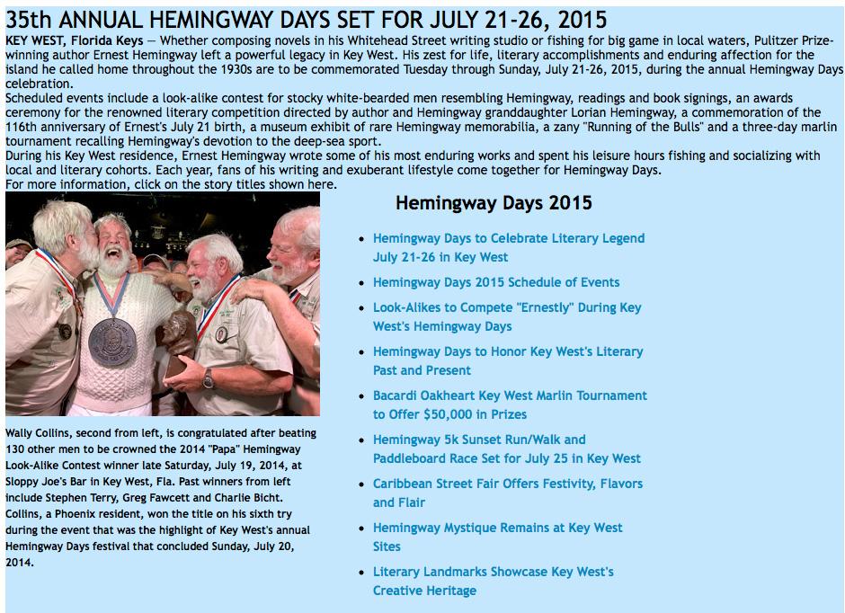 HemingwayDays
