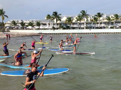 Paddle Board Race Women's Start