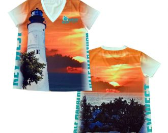 WOMEN'S V-NECK LIGHTHOUSE T-SHIRT