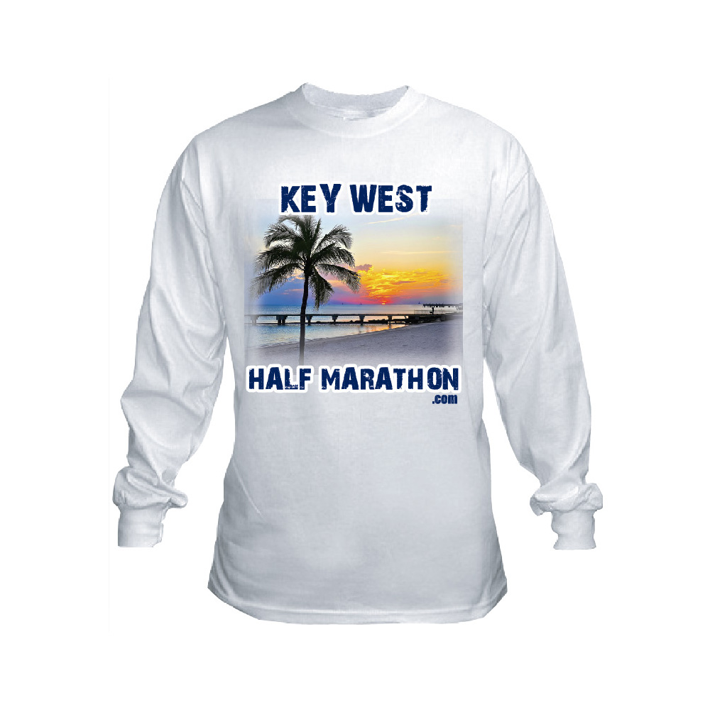 MEN S LONG SLEEVE WHITE T-SHIRT – Key West Half Marathon 909bcaba3b5