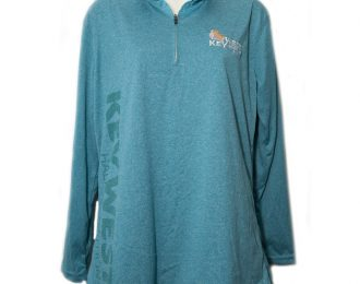 WOMEN'S QUARTER ZIP TEAL