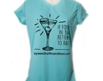 WOMEN'S TEAL MARTINI T-SHIRT