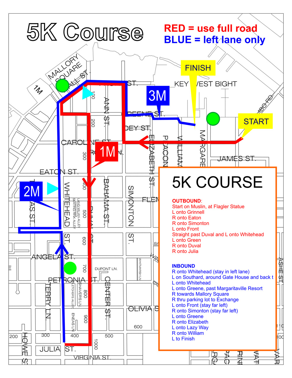 Key West Half Marathon & 5K - Course map | Key West Half Marathon Key West Street Map Print on key west cemetery, key west maps and brochures, key west aerial view, key west bars and restaurants, key west mapquest, key west truman waterfront park, key west maps to print, key west town, key west fl street map, key west trolley route, key west weather 10 day, key west naval base 1970, key west beaches, key west city, key west historic seaport restaurants, key west shopping stores, key west fishing maps, key west fishing trips, key west street view,