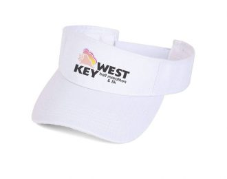 KEY WEST HALF MARATHON WHITE VISOR